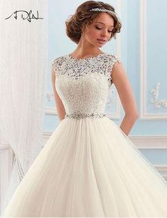Custom Made Tulle Wedding Dresses Backless Cap Sleeves Bateau Neck Vintage Lace Beaded Chapel Train Spring Summer Bridal Wedding Gowns – wedding gown Beaded Wedding Gowns, Muslim Wedding Dresses, Lace Ball Gowns, Princess Wedding Dresses, Elegant Wedding Dress, White Wedding Dresses, Ball Dresses, Bridal Dresses, Gown Wedding