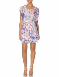 Outback Red® Printed Overlay Dress | Printed Flutter Dress | THE LIMITED