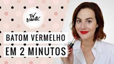 Batom vermelho em 2 minutos - TV Beauté | Vic Ceridono