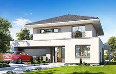 Zdjęcie projektu Orkan WAH1881 Architectural Design House Plans, Architecture Design, Dream Home Design, Modern House Design, Two Story House Design, Model House Plan, Dream House Exterior, House Elevation, Home Fashion