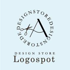 ハサミロゴ,アルファベットロゴ,看板ロゴデザイン