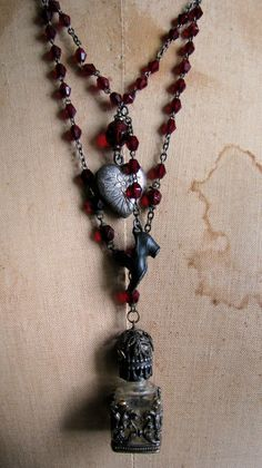French Perfume with Rosaries by ScatteredMoments on Etsy, $128.00
