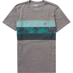 Billabong Unisex Spinner Tribong Tee ($27) ❤ liked on Polyvore featuring tops, t-shirts, dark grey heather, t-shirt/prints, heather grey t shirt, jersey t shirt, crewneck tee, crew neck tee and crew t shirts
