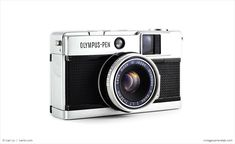 The Olympus Pen EED was one of the smallest 35mm cameras of its day and had the fastest lens of any Pen camera: a Zuiko 32mm f/1.7.