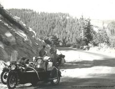 Brough Superior SS100 Triumph Thunderbird A whole site with vintage photos of a group of friends riding their motorcycles around europe during the early 1950's. Rather dapper looking while in the alps