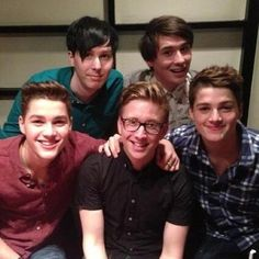 Phil Lester, Dan Howell, Jack Harries, Tyler Oakley, and Finn Harries. I love them all so much.