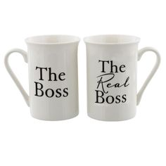 2 piece gift set The Boss The Real Boss