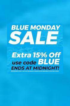 Blue Monday #Sale Limited Offer - Ends at Midnight #car #autos #Automotive #cartips #autoparts #deals #HotDeals #discounts #rt #offers #VoucherCodes