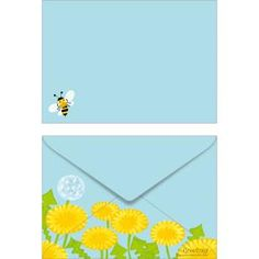 Spring ISO C6 0001,Envelopes ,Card,Spring,blue,multi-purpose,dandelion,C6 size envelope