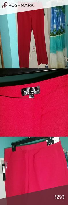 """NWT Nicole Miller dress pants size 10 Gorgeous new Nicole Miller dress pants, labeled """"Essential Easy Care Pant/The Perfect Fit"""". Size 10. Nicole Miller Pants Trousers"""
