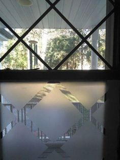 s how to get privacy without curtains, home decor, how to, window treatments, Cut shapes onto the glass Faux Stained Glass, Leaded Glass, Stained Glass Windows, Diy Privacy Fence, Window Privacy, Window Screens, Window Coverings, Window Treatments, Dark Hallway