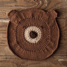 Bear With Me Dishcloth, free pattern from Knitpicks