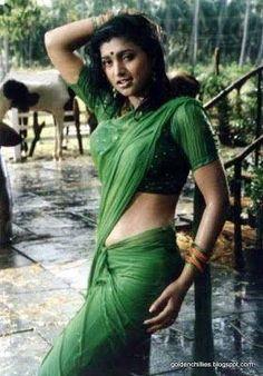 Beautiful Girl In India, Beautiful Indian Actress, Hot Actresses, Indian Actresses, Roja Hot, Green Saree, Half Saree, Indian Beauty Saree, Actress Photos