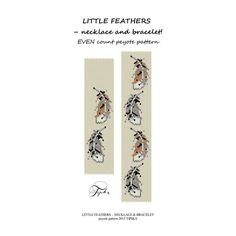 peyote pattern little feathers bracelet and necklace