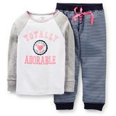 Advice: For child's safety cotton pjs should always fit snugly. Cotton rib top and cozy French terry pants are the perfect duo for sweet dreams and happy mornings.