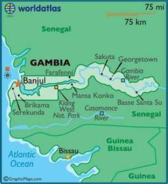 The Gambia in North Africa...Vicki and Jim's Jake is heading there in June with the Peace Corp. Keep him in prayer folks.