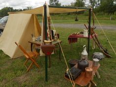 this is our set up at the New York state Muzzleloaders Association shoot this is just some of our things set up here it was small so we did not bring all of the things just the small tent and little things to get us by . photo by paula ptak