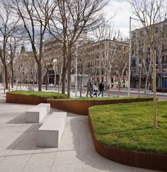 """enochliew: """"Santa Bárbara Square by Nieto Sobejano It is part of a larger-scale operation aimed at transforming a dense central area of Madrid. """""""