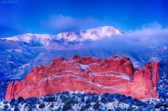 Pikes Peak and Garden of the Gods.