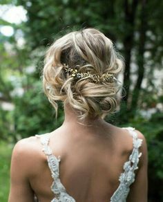 Summer updo boho style. find your dream wedding gown www.customdreamgowns.com