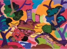 Charles Lapicque (France 1898-1988)  Le Coup de foudre (1974) acrylic on canvas 61 x 81.3 cm