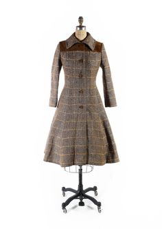Your place to buy and sell all things handmade Vintage Princess, Plaid Coat, Wool Blend, Classic Style, All Things, 1970s, Ready To Wear, Ship, Model