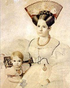 """Agustina Rosas de Mansilla e hijo"" Carlos E. Pellegrini"