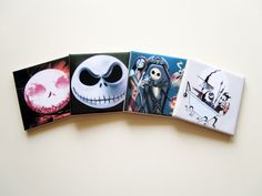 The Nightmare before Christmas Drink Coasters by TerryTiles2014