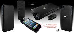 Funda iPhone 5 Piel Frama iMagnum - negro