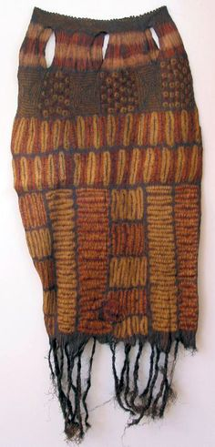 Africa | Woman's skirt from the Dida peoples of southern Ivory coast | Raffia palm fibre and vegetal dyes; resist-dyed and re-dyed