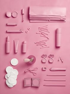 The objects of my profession: makeup artist. Still life Stylist Sarah Akwisombe, photographer Dan Annett
