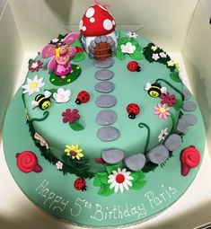 Hottest Images Fairy Garden cake Strategies Having a whimsical garden for that wee folks requires imagination and creativity. Fairy Garden Cake, Garden Cakes, Fairy Cakes, Fairy Birthday Cake, 3rd Birthday Cakes, 4th Birthday, Birthday Ideas, Bolo Confetti, Fondant Cakes