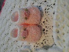 bebé vestido de crochet blanco con ribete por BabyBeautiful801