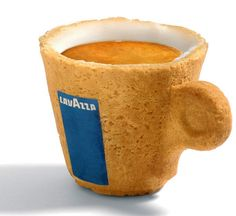 Edible espresso cup  *sugar-lining protects the cookie cup,  sweetens drink & cookie