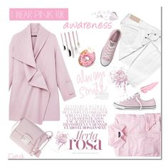 """""""Wear pink"""" by ts-alex ❤ liked on Polyvore featuring Vince, Victoria Beckham, GANT, Converse, Prada, Topshop, By Terry, Villeroy & Boch, Pink and IWearPinkFor"""