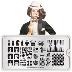 Snooker and pool? Whatever your favourite game is, wear it with pride with MoYou London's Games Nail Stamping Plate Collection. Nail Plate, Nail Stamping Plates, London Nails, Nail Art Images, Image Plate, Latest Nail Art, Love Games, My Plate