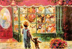 Teddy Bear Wishes by Stewart Sherwood 1000 Piece Sure Lox Jigsaw Puzzle New   eBay