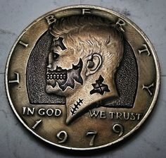 Kennedy Half Dollar Zombie - Made To Order