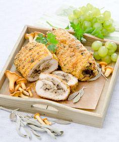 Escalopes de poulet farcies aux champignons