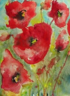 Red Poppies 5 #art