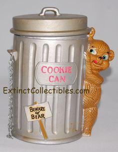 Enesco Trash Can Bear Cookie Jar