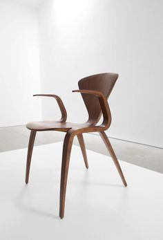 Norman Cherner Rare Prototype Armchair for Plycraft 4