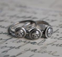 skull ring wax seal $35.00, via Etsy. #jewelry #silver