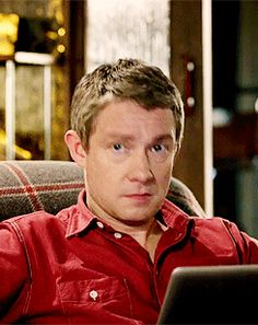 lyndsayfaye: Let's play How Many Faces Can Martin Freeman Make In Under Two Seconds. <---- That describes this gif perfectly.