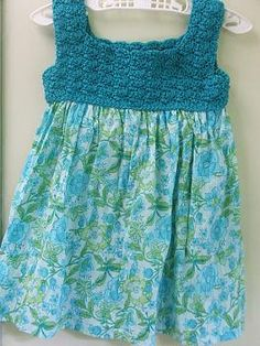crocheted bodice