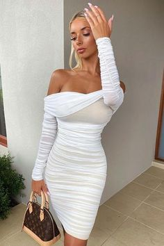 Ready And Ruched Mesh Midi Dress - Blue, Dresses | Fashion Nova White Midi Dress, Long Sleeve Midi Dress, Midi Dresses, Dress Long, Dress Black, Blue Dresses, High Waisted Dress Pants, African Wear Dresses, Work Dresses For Women