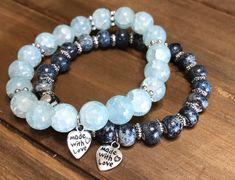 Excited to share the latest addition to my #etsy shop: Blue bracelet set. Womens bracelets. Stretch elastic bracelets. #jewelry #bracelet #elasticbracelets #jewelryforwomen #bluebracelets #bracelets #springcolorjewlery #braceletsforspring #giftsforher