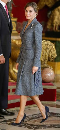 Queen Letizia of Spain attends the celebrations for the National Day on October 12, 2017 in Madrid, Spain.