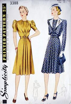1940s Misses Dress and Bolero