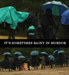 Rainy in Mordor?